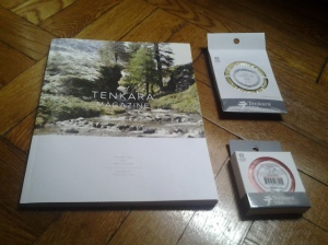 Goodies to start the new year: Tenkara Magazine, 3.5 Level Line, and a traditional tapered 11 ft. line. (photo taken 01 31 2014)