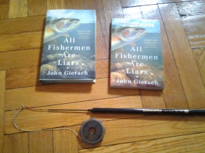 All Fishermen Are Liars by John Gierach Ebisu by Tenkara USA (photo taken 04 11 2014)